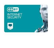 Програмна продукція ESET Internet Security на 1 рік.Для захисту 2 об'єктів.