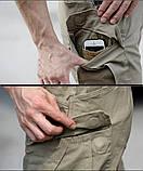 Брюки тактические ESDY stretch multipocket серые, фото 6