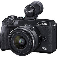 Цифр. фотокамера Canon EOS M6 Mark II + 15-45 IS STM + EVF Kit Black