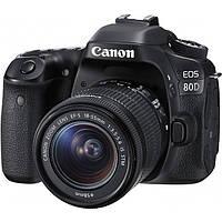 Цифр. дзеркальна фотокамера Canon EOS 80D + об'єднання єктив 18-55 IS STM