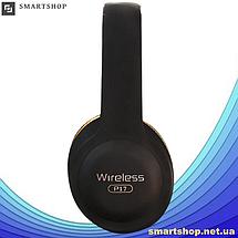 Беспроводные наушники Wireless P-17 - складные Bluetooth наушники с аккумулятором, MP3 плеером и FM радио, фото 3