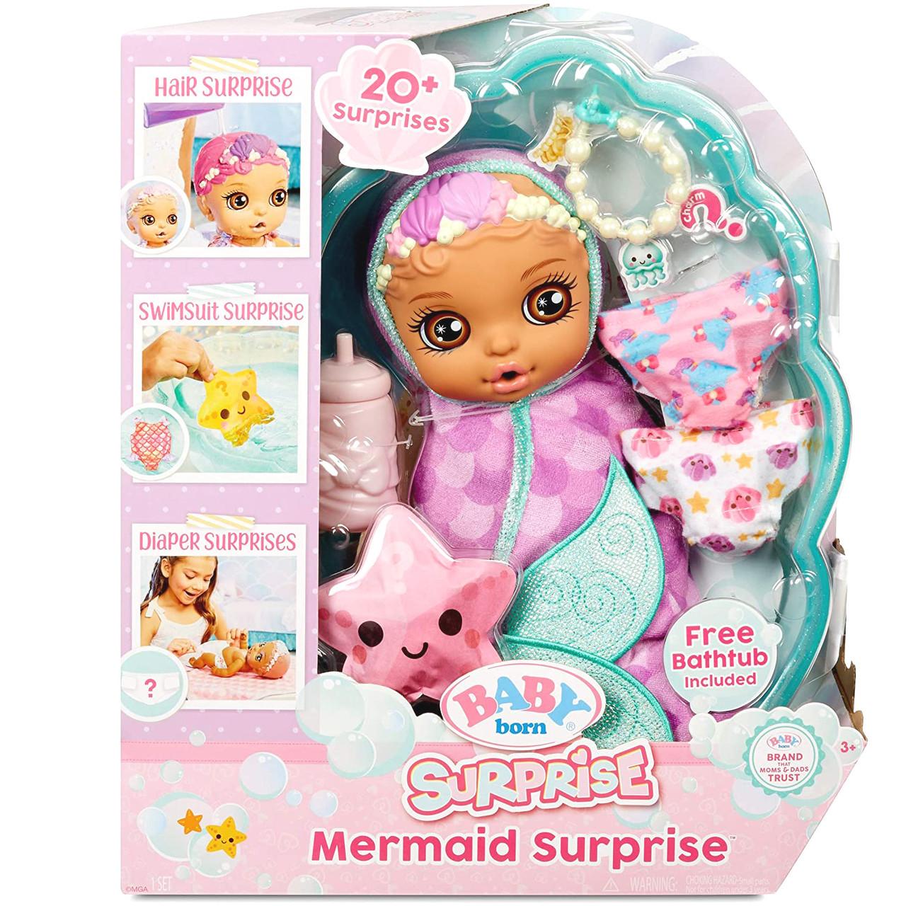 Беби Борн Принцесса 28 см Сюрпризы с ванной Baby Born Surprise Bathtub Swaddle Princess