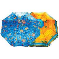 Круглый зонт с клапаном и без клапана спицы пластиковые Комплектация: Зонт, ножка, чехол, пляжные зонты