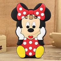 Резиновый 3D чехол для Samsung Galaxy Core Prime G360 / G361H Minnie Mouse