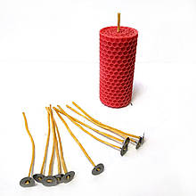 Гніт для свічок вощений 2 мм з металевим держателем. Висота 15 см