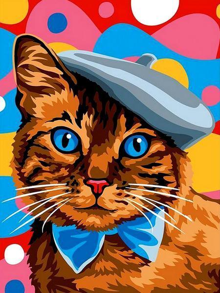 VK249 Картина-раскраска по номерам Пушистый джентельмэн