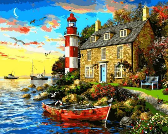 VP1277 Картина-раскраска по номерам Дом смотрителя маяка. Доминик Дэвисон, фото 2