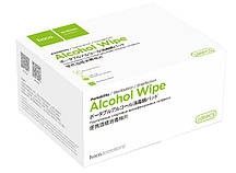 Антибактериальные салфетки HOCO Portable Alcohol Disinfection Cotton Wipes, 100 шт