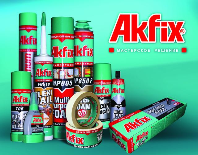 Пена монтажная, герметик, силикон,клей Akfix