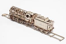 Механические 3D пазлы UGEARS - «Локомотив c тендером», фото 2