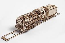 Механические 3D пазлы UGEARS - «Локомотив c тендером», фото 3