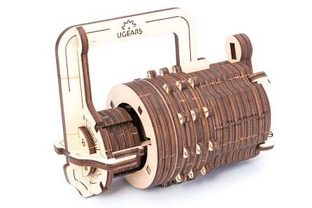 Механические 3D пазлы UGEARS - «Кодовый замок», фото 2