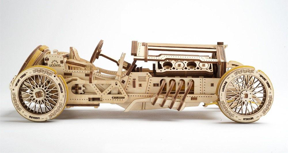 Механические 3D пазлы UGEARS - «Спорткар U-9 Гран-при»