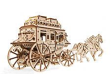 Механические 3D пазлы UGEARS - «Почтовый дилижанс», фото 2