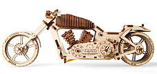 Механические 3D пазлы UGEARS - «Байк VM-02», фото 3