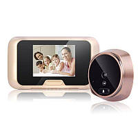 """Видеоглазок дверной цифровой для квартиры Kivos KR08 c 3"""" экраном, подсветкой и видео/фото записью. Карта 8 Гб, фото 1"""