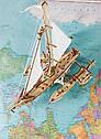 Механические 3D пазлы UGEARS - «Тримаран Мерихобус», фото 7