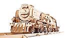 Механические 3D пазлы UGEARS - «Локомотив c тендером V-Экспресс», фото 3