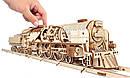 Механические 3D пазлы UGEARS - «Локомотив c тендером V-Экспресс», фото 4