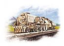 Механические 3D пазлы UGEARS - «Локомотив c тендером V-Экспресс», фото 8