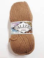 Пряжа акриловая Alize Burcum Klasik 100% акрил 100 гр, 210 м,  беж  ( (кемел ) 267 Турция