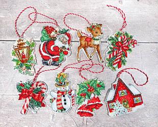 """Набор для вышивания LetiStitch LETI 966 """"Набор новогодних игрушек"""""""