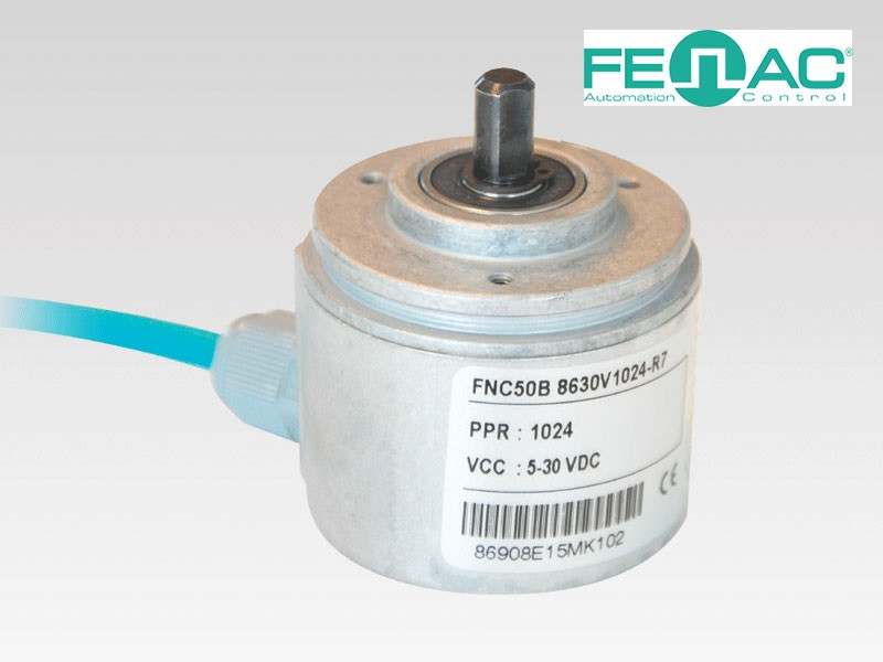Энкодер круговых перемещений FNC 50В (2500 имп/об, 8 мм вал, 5-30В)