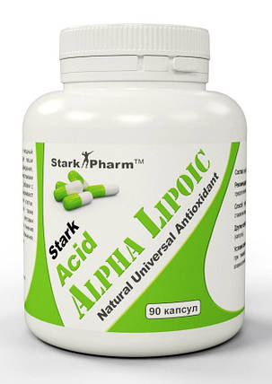 Антиоксидант Alpha Lipoic Acid (ALA) Stark Pharm 100 мг 90 капс, фото 2