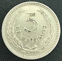 Монета Уругвая  5 сентимо 1953 г., фото 1