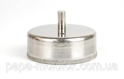 Алмазное сверло 75 мм, коронка для сверления стекла, керамики, мрамора
