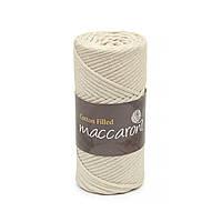 Трикотажный хлопковый шнур Cotton Filled 3 мм, цвет Латте