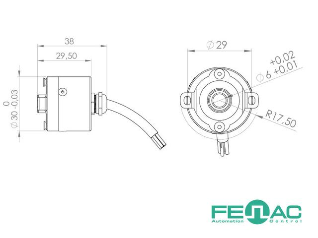 Энкодер круговых перемещений FNC 30Е (полый вал)