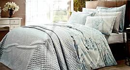 Евро комплект постельного белья с покрывалом Tac Мята