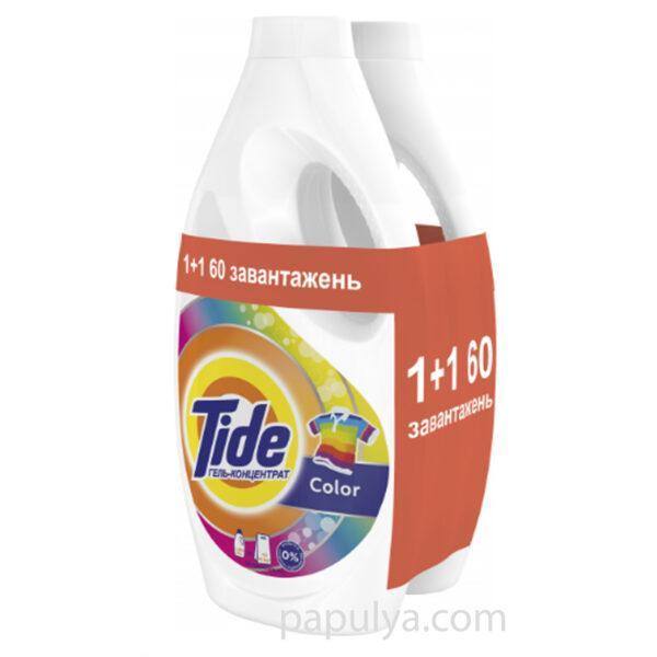 Набір гель для прання Tide тайд Color концентрат 60 прань, 2х1,65 л = 9 кг оригінал