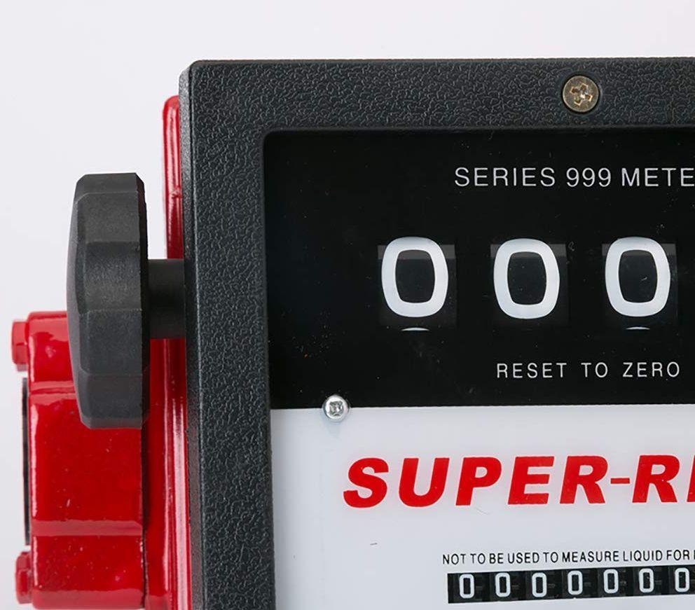 """Механический счетчик для дизельного топлива, бензина, керосина 150л/мин.  1,5"""""""