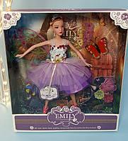 """Кукла """"Emily Фея"""" с крыльями, бабочки QJ093D, фото 1"""