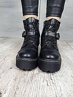 Женские зимние ботинки на платформе с ремешком 36 38