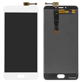 Дисплей (экран) для Meizu U20 (U685H) с сенсором (тачскрином) белый Оригинал