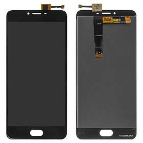 Дисплей (экран) для Meizu U20 (U685H) с сенсором (тачскрином) черный Оригинал