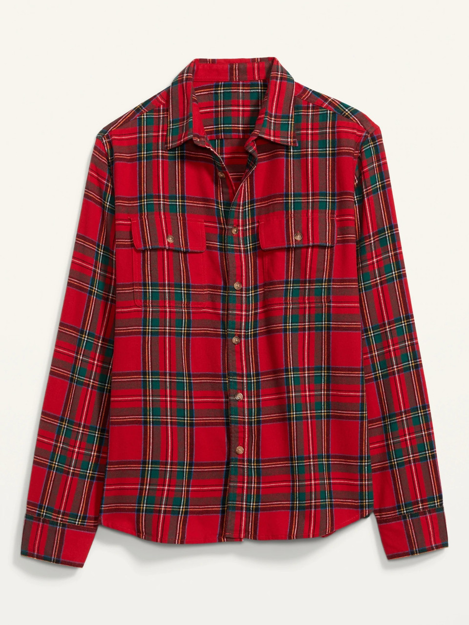 Мужская фланелевая рубашка в клетку Old Navy art764128 (Красный/Зеленый, размер XXXL)
