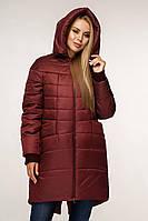 Куртка женская зима с капюшоном М1148 бордовый/ разные цвета