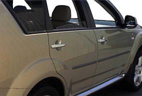 Накладки на ручки (4 шт, нерж) Carmos - Турецкая сталь Mitsubishi Outlander 2001-2006 гг.