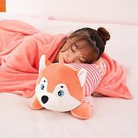 Детские игрушки с пледом , одеяло и простынь в кроватку и коляску