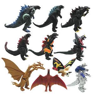Набор фигурок Годзилла и монстры 10в1, 9 см - Godzilla & monsters