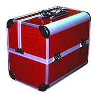 Чемодан-кейс алюминиевый 2629 (красный лаковый)