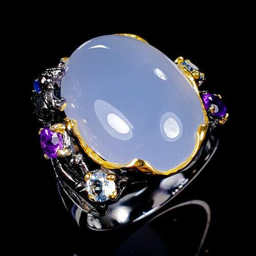 Срібне кільце Ручна робота .Розмір 17 Рожевий кварц
