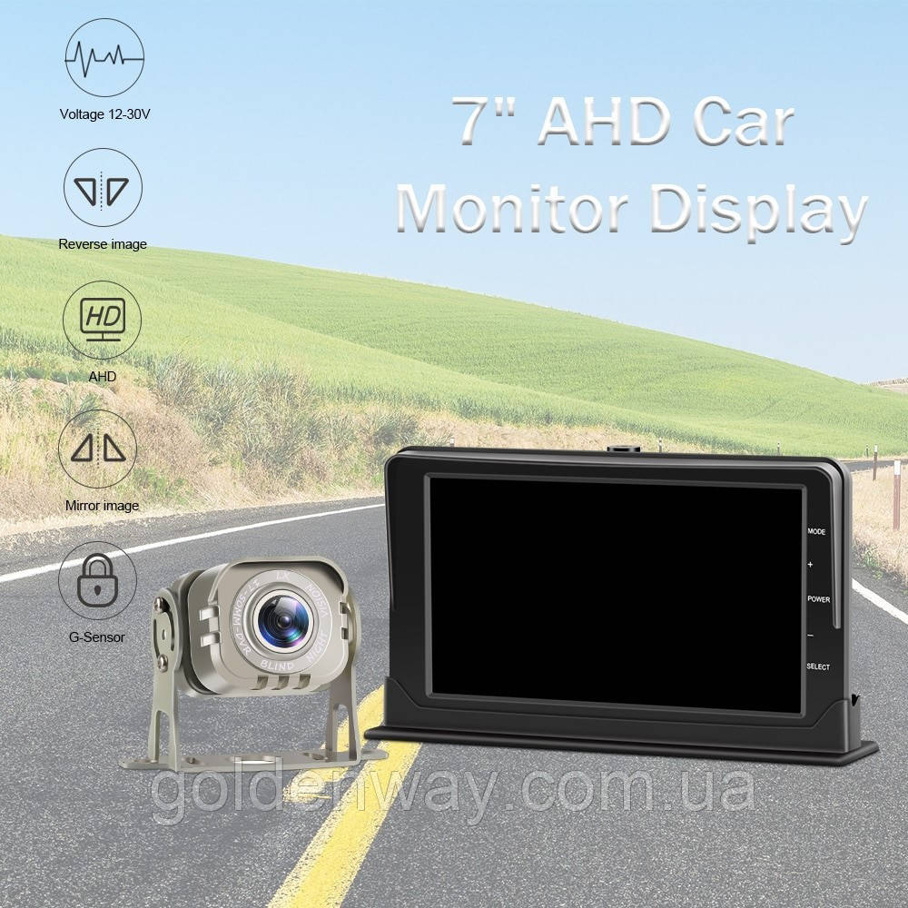 Система парковки и видеорегистратор  для грузовика SAMFIWI DVR 201 (Монитор 7 дюймов + 1 камера 12-24V)