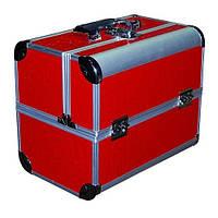Чемодан-кейс алюминиевый 2629 (красный матовый)
