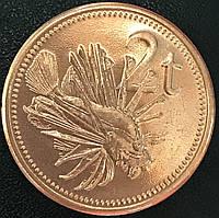 """Монета Австралії 50 центів 2014 р. В упаковці. Битва за Нову Гвінею. Серія """"Австралія у війні""""."""