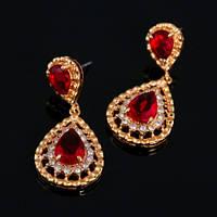 Красные серьги бижутерия Королева Бала